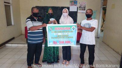 Desa Bontokanang Salurkan BLT Tahap Ke Keempat Kabupaten Takalar