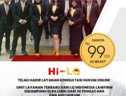PERTAMA DI INDONESIA LAYANAN VIDEO ONLINE KONSULTASI HUKUM, LAYANAN DARI LQ INDONESIA LAWFIRM : Hi – LQ