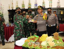 Hut TNI Ke 76 Kapolres Lampung Utara kunjungi Kodim 0412/LU