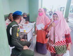 Denpom II/3 Lampung suntik 1000 vaksinasi dosis kedua