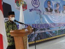 Bupati Lampung Utara Buka Muscab BPC Gapensi Di Gedung Korpri